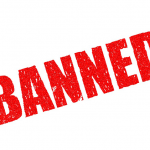 Red Banned Text Instagram banned terms